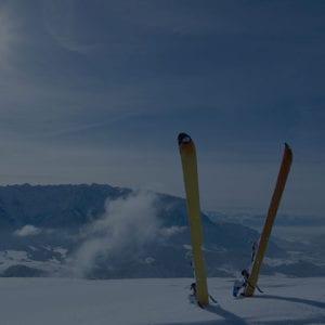 雪中滑雪板