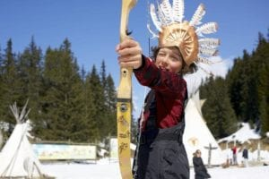 Indians Courchevel. Childrens entertainment whilst skiing